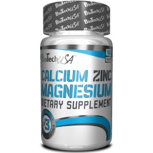 BioTech USA Calcium Magnesium Zinc (Ca-Mg-Zn) 100 таблетки