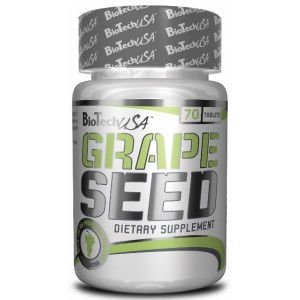 BioTech USA Grape Seed / Екстракт от гроздови семки 200 мг. 70 таблетки