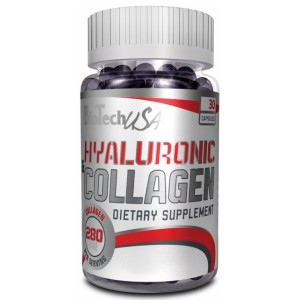 BioTech USA Hyaluronic Acid and Collagen 30 капсули
