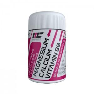 MuscleCare Magnesium Calcium Vitamin B6 / Калций, магнезий и витамин В6 90 таблетки (30 дози)