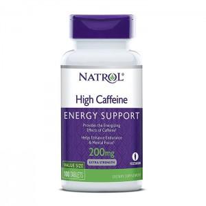 Natrol High Caffeine 200 мг. 100 таблетки