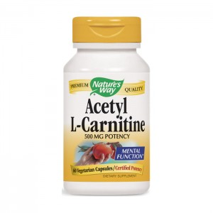 Nature's Way Acetyl L-Carnitine / Ацетил Л-Карнитин 500 мг. 60 вегетариански капсули