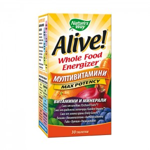 Nature's Way Alive! Whole Food Energizer 30 таблетки