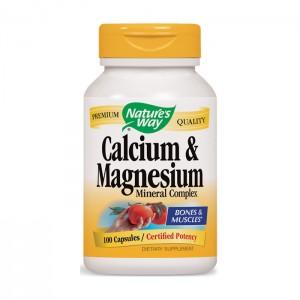 Nature's Way Calcium & Magnesium / Калций и магнезий 250 мг. 100 капсули