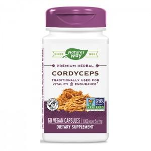 Nature's Way Cordyceps / Кордицепс 500 мг. 60 вегетариански капсули