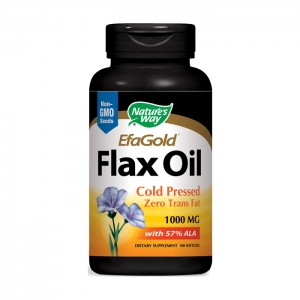 Nature's Way Flax Oil / Ленено масло 1000 мг. 100 софтгел капсули