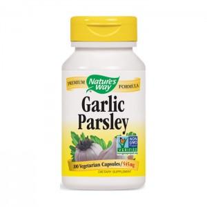 Nature's Way Garlic & Parsley / Чесън и магданоз 545 мг. 100 вегетариански капсули