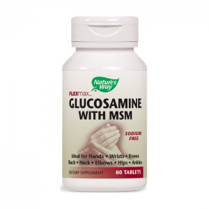 Nature's Way Glucosamine with MSM / Глюкозамин и MСM 875 мг. 80 таблетки