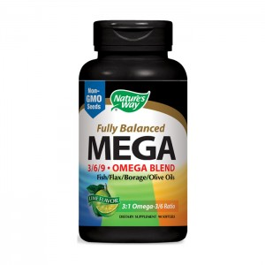Nature's Way Mega 3/6/9 Omega Blend / Мега ЕФА Бленд 1350 мг. 90 софтгел капсули