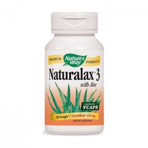Nature's Way Naturalax 3 / Натуралакс 3 430 мг. 20 вегетариански капсули
