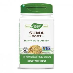 Nature's Way Suma / Бразилски женшен / Сума (корен) 500 мг. 100 вегетариански капсули