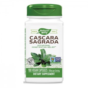 Nature's Way Cascara Sagrada / Зърнастец 350 мг. 100 вегетариански капсули