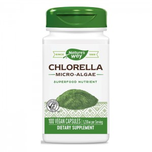Nature's Way Chlorella Micro-algae / Микроводорасли Хлорела 410 мг. 100 вегетариански капсули