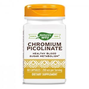 Nature's Way Chromium Picolinate / Хром 200 мкг. 60 капсули