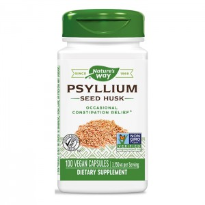 Nature's Way Psyllium Husks / Псилиум Хуск/Живовляк (люспи) 525 мг. 100 вегетариански капсули