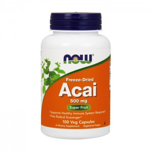 NOW Foods Acai / Акай Бери 500 мг. 100 вегетариански капсули
