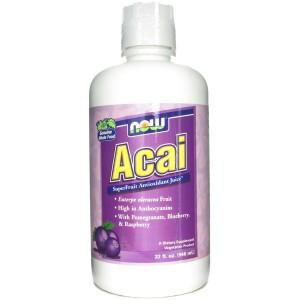NOW Foods Acai Juice / Акай Бери сок 946 мл.