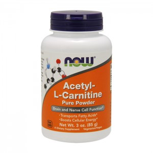 NOW Foods Acetyl L-Carnitine Powder / Ацетил L-карнитин пудра 635 мг. 85 гр.