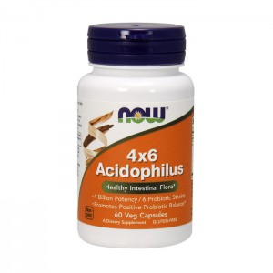 NOW Foods Acidophilus 4x6 60 капсули