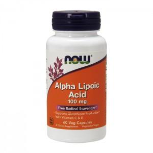 NOW Foods Alpha Lipoic Acid / Алфа-липоева киселина 100 мг. 60 вегетариански капсули