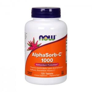 NOW Foods AlphaSorb-C 1000 мг. 120 таблетки