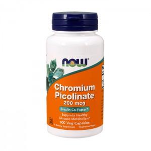 NOW Foods Chromium Picolinate / Хром пиколинат 200 мкг. 100 капсули
