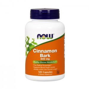 NOW Foods Cinnamon Bark / Кора от канела 600 мг. 120 капсули