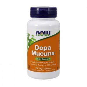 NOW Foods DOPA Mucuna / Кавча (кадифено зърно) с L-DOPA 90 вегетариански капсули