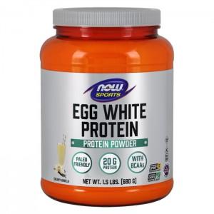 NOW Foods Eggwhite Protein / Овкусен натурален яйчен протеин 680 гр.