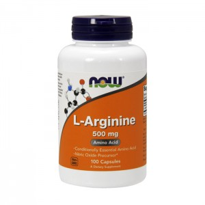 NOW Foods L-Arginine 500 мг. 100 капсули