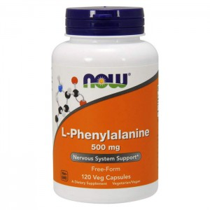NOW Foods L-Phenylalanine 500 мг. 120 капсули
