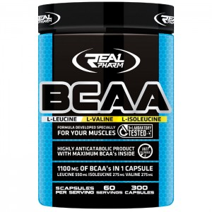 Real Pharm BCAA 300 капсули (60 дози)