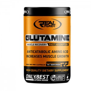 Real Pharm Glutamine 900 мг. 300 капсули (75 дози)