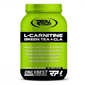 Real Pharm L-Carnitine, Green Tea & CLA 90 таблетки (90 дози)