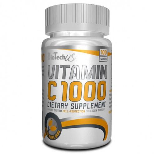 BioTech USA Vitamin C 1000 Rose Hips / Витамин С със шипка 1000 мг. 100 таблетки