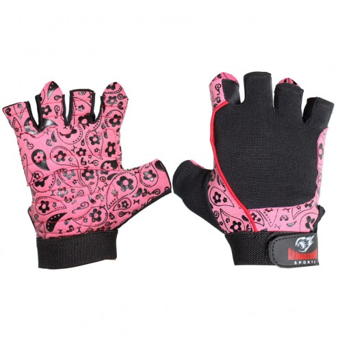Дамски Фитнес Ръкавици Armageddon Sports Flower Pink