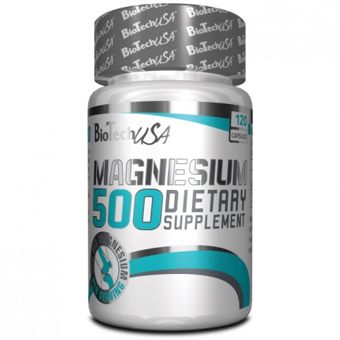 BioTech USA Magnesium 500 / Магнезий 500 мг. 120 капсули
