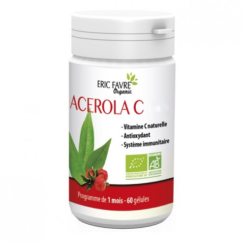 Eric Favre ACEROLA C 500 ORGANIC / Ацерола 60 капсули (30 дози)