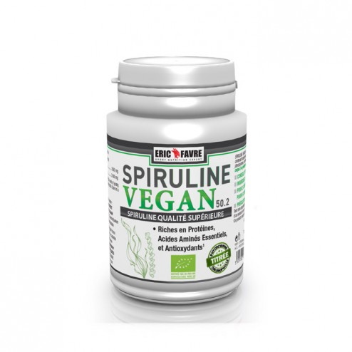 Eric Favre SPIRULINE VEGAN BIO / Спирулина 500 мг. 100 таблетки (50 дози)