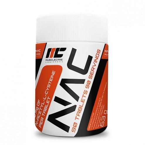 MuscleCare NAC / N-ацетил-L-цистеин 500 мг. 90 таблетки (90 дози)
