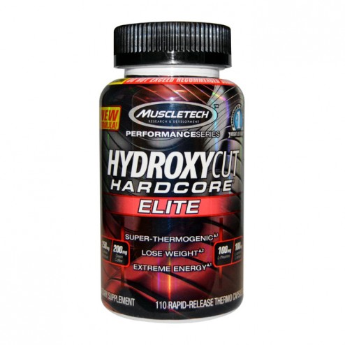 MuscleTech Hydroxycut Hardcore Elite 110 капсули (55 дози)