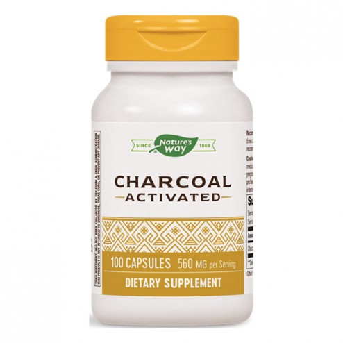 Nature's Way Activated Charcoal / Активен въглен 280 мг. 100 капсули