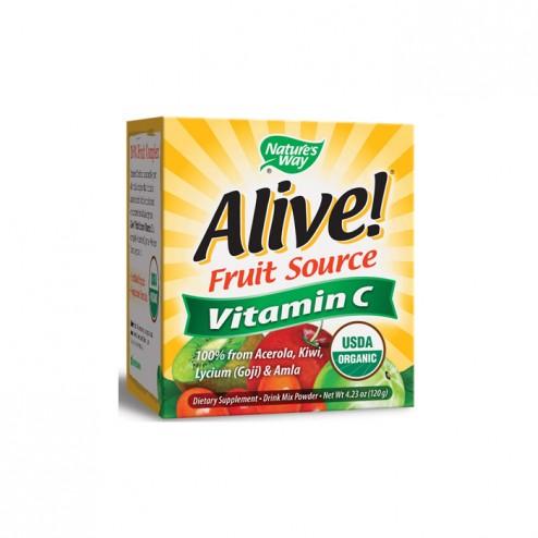 Nature's Way Alive! Organic Vitamin C 500 мг. 120 гр. пудра