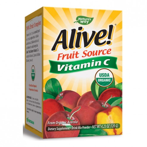 Nature's Way Alive! Organic Vitamin C 500 мг. 120 гр. пудра