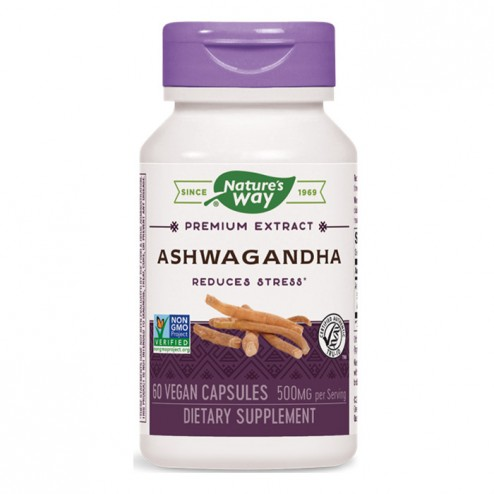 Nature's Way Ashwagandha / Ашваганда 500 мг. 60 вегетариански капсули