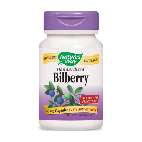 Nature's Way Bilberry / Черна боровинка и бъз 200 мг. 60 вегетариански капсули