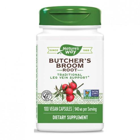 Nature's Way Butcher's Broom / Бодлив залист/Миши трън 470 мг. 100 вегетариански капсули