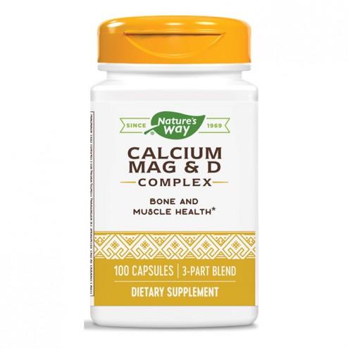 Nature's Way Calcium Mag & D Complex / Калций, магнезий и витамин D 250 мг. 100 капсули