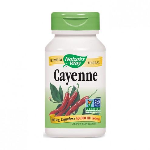 Nature's Way Cayenne / Лют червен пипер 450 мг. 100 вегетариански капсули