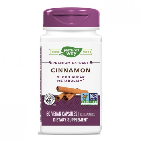 Nature's Way Cinnamon / Канела 500 мг. 60 вегетариански капсули